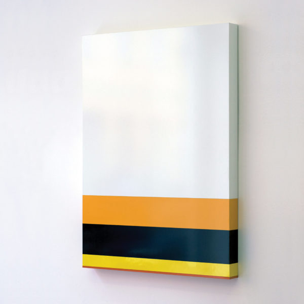 «USA population by race», 2009, Formica on wood 110 x 82 x 7 cm