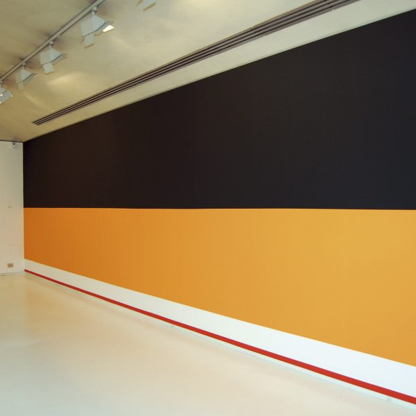 USA Poverty rate by race, Mural painting, Variable dimensions. View of the installation at Trama Gallery, Barcelona, 2012