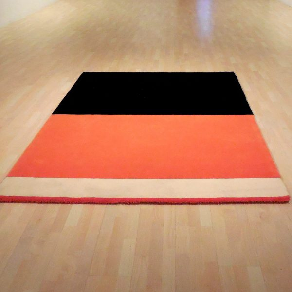 USA poverty rate by race (carpet), 2009-2010, Installation with natural wool carpet 230 x 170 cm