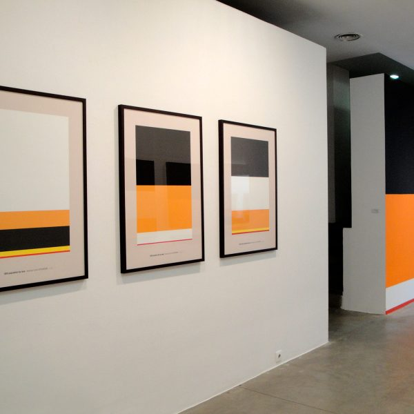 View of the installation at Blanca Soto Gallery, Madrid, 2010