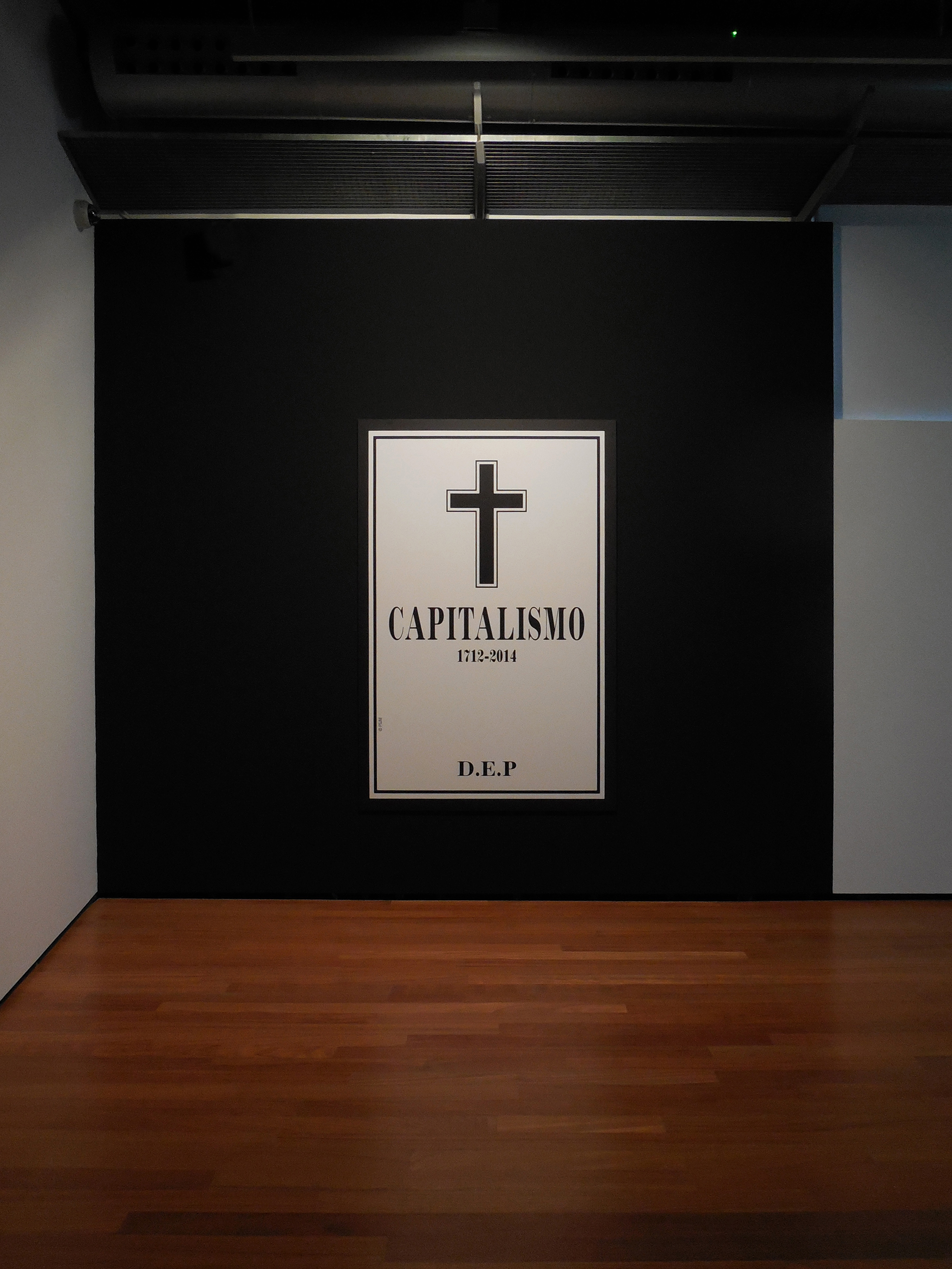 «Capitalism R.I.P.», 2013, View of the installation at San Martín CCC / CAAM, Las Palmas GC