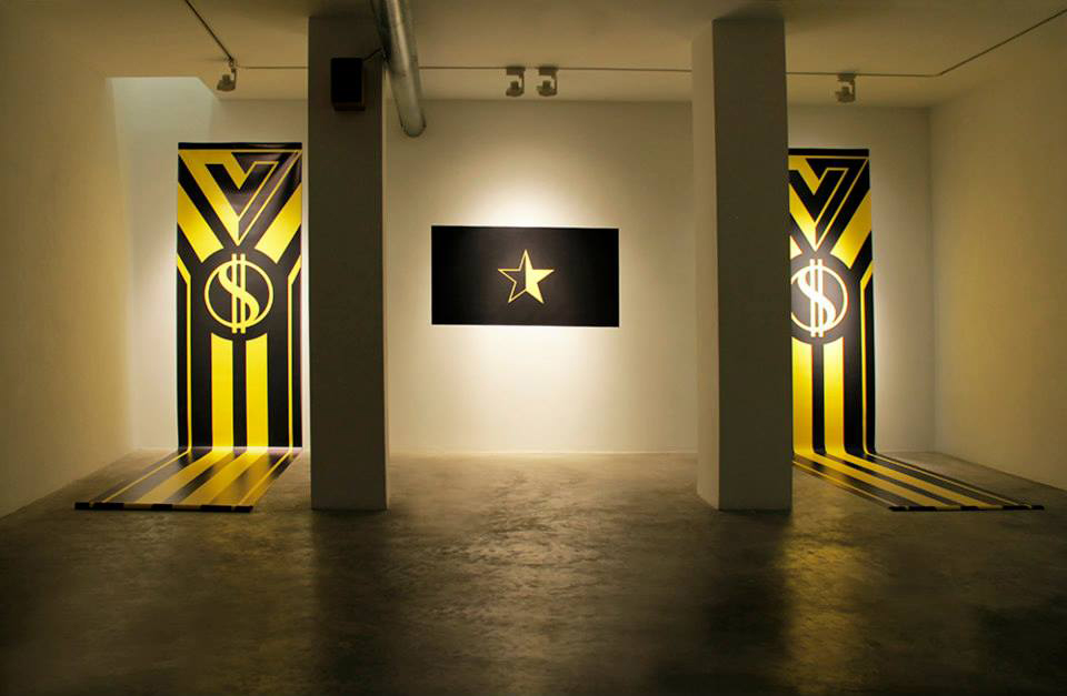 «ANCAPS: Total Market», 2015, View of the installation at Aural Gallery, Alicante