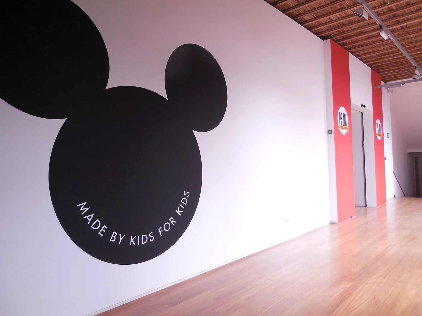 «Made by kids for kids», 2007, Mural installation, Variable dimensions.