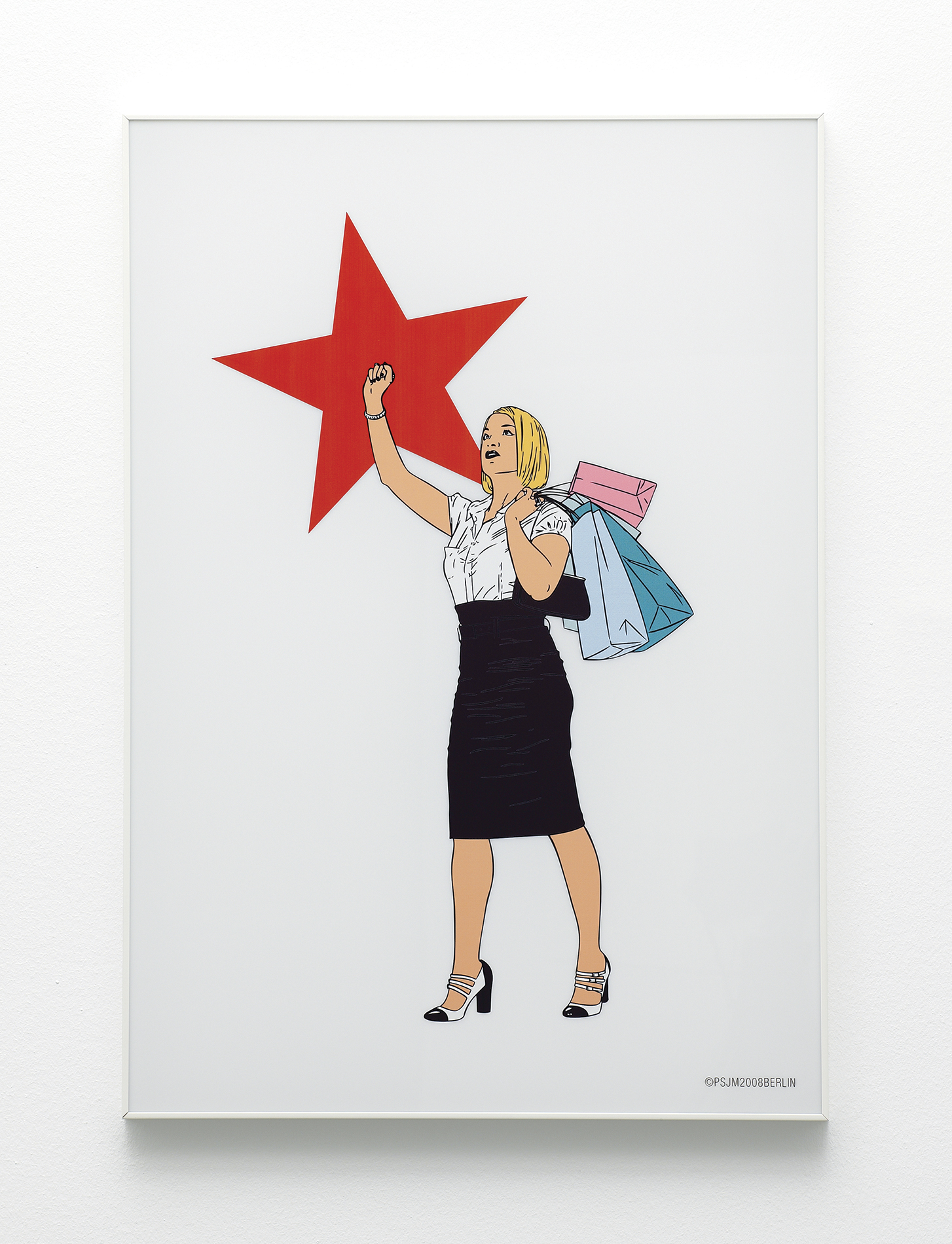 New Consumer, 2008, Cut vinyl on methacrylate, 100 x 70 cm, Ed. 15