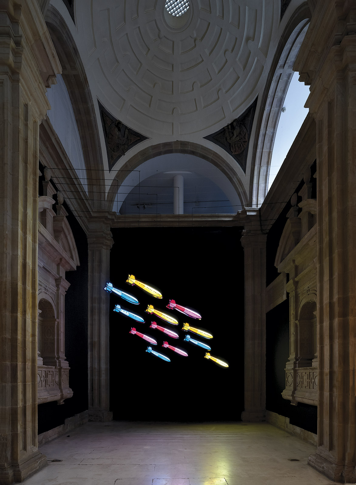 «Slogans», 2009, View of the installation at Barjola Museum, Gijón.