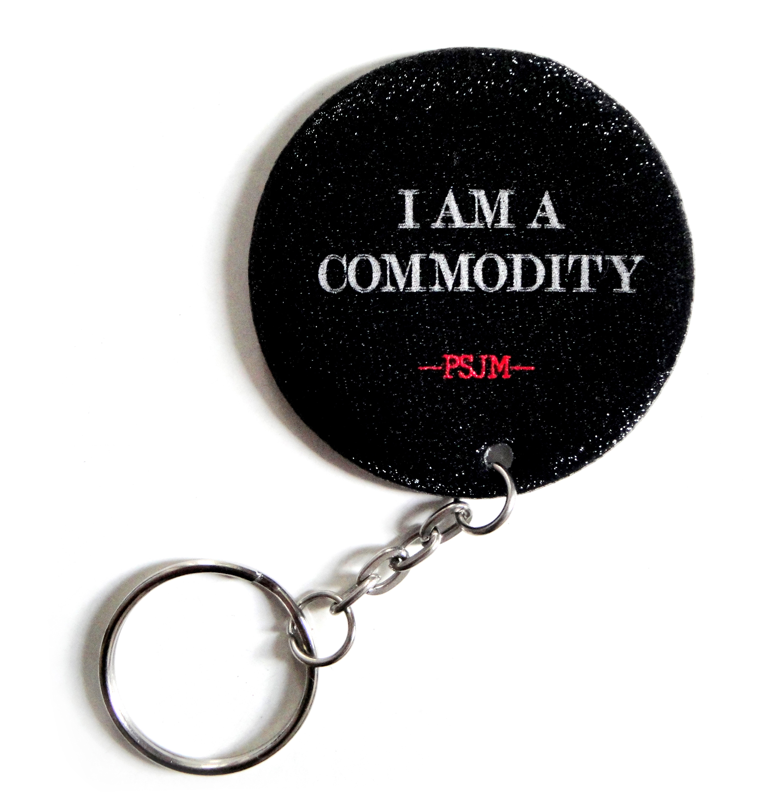 «I am a commodity», Edition of key rings, Freies Museum, Berlin, 2010.
